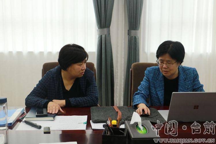 县长李志华会见上海同济大学朱�徒淌诓⒄倏�座谈会议