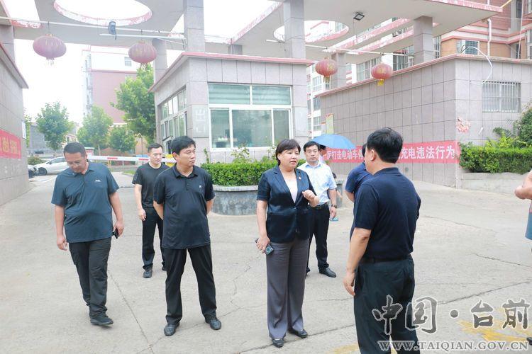 县委副书记、代县长李志华组织调研城区防汛工作